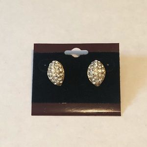 Jewelry - Fabulous Gold and Crystal Earrings
